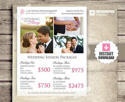 Wedding Photography Package Pricing By Studiotwentynine On Etsy Wedding Pricing Template