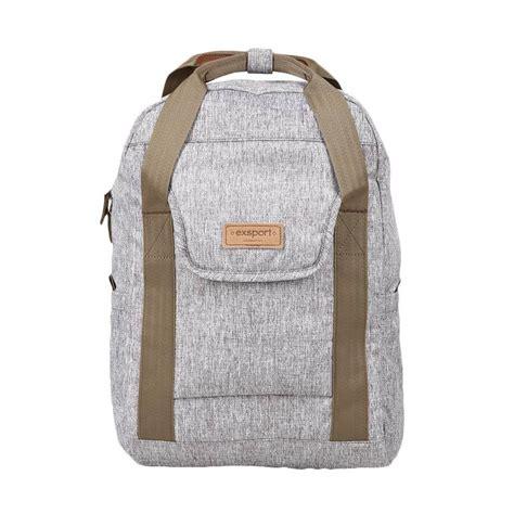 Tas Laptop Wanita Exsport jual exsport backpack laptop 17 litre panacota tas wanita grey harga kualitas