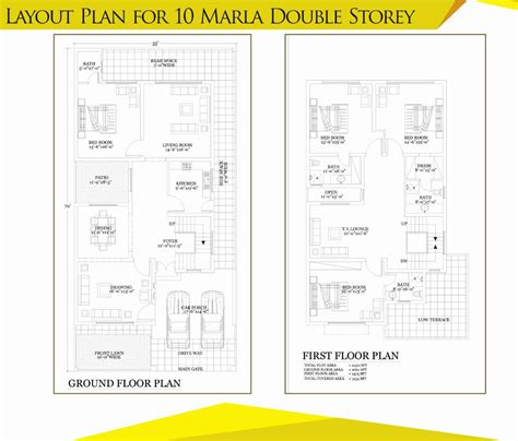bahria town house floor plans