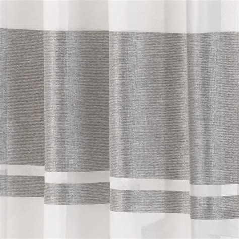 metallic silver drapes eyelet voile curtain panel metallic stripe green silver