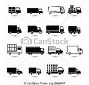 Clipart Vecteur De Ensemble Diff&233rent Camion