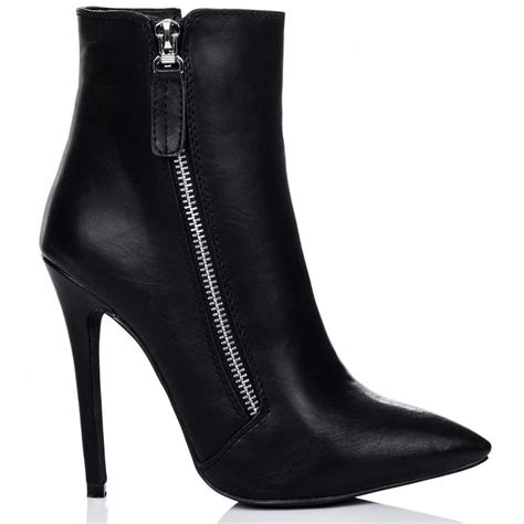spylovebuy hton black ankle boots shoes at spylovebuy