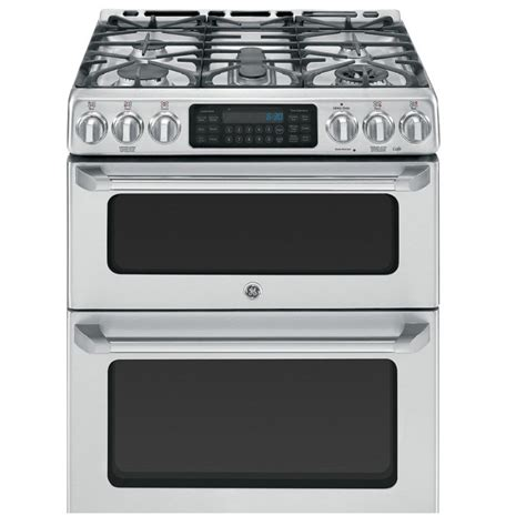 Oven Gas 2 Jutaan ge cafe ccgs990setss 30 in 5 burner 2 4 cu ft 4 3 cu ft