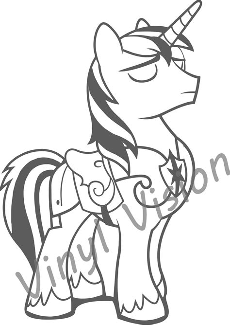 coloring pages my little pony shining armor my little pony friendship is magic shining armor coloring