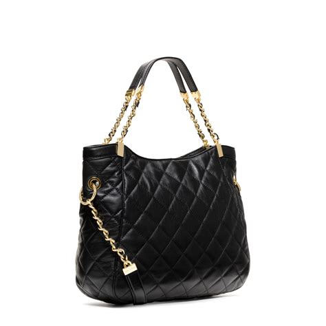 Michael Kors Susannah Quilted Bag by Michael Kors Susannah Large Quilted Leather Tote In Black