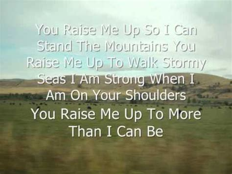 Raise Me Up Letra you raise me up josh groban with lyrics