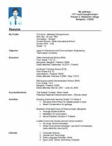 Exle Of Resumes For High School Students by Resume Builder For High School Students Learnhowtoloseweight Net