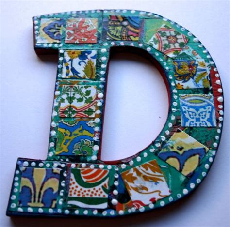 How To Make Decoupage Letters - medium decoupage wood letter d collaged letter 5 5