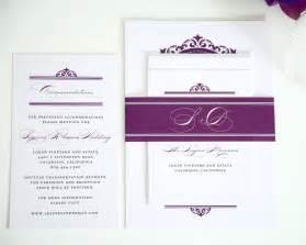 light purple wedding invitations with damask monogram wedding invitations by shine