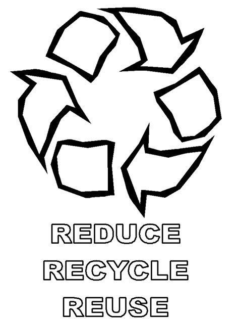 reduce reuse recycle coloring pages coloring home