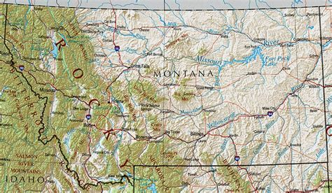 maps of montana shaded relief map united states mapa