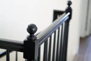 Black Staircase the banister is painted chris loves julia