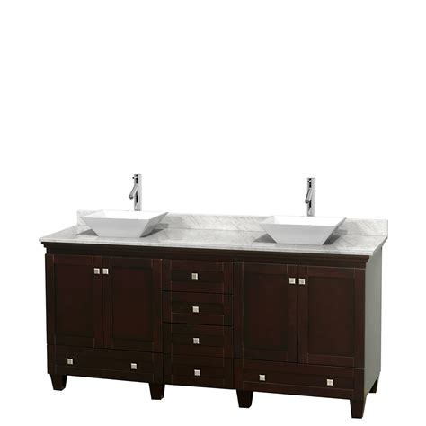 Bathroom Vanity 72 Inch Wyndham Collection Wcv800072descmd2wmxx Acclaim 72 Inch Bathroom Vanity In Espresso