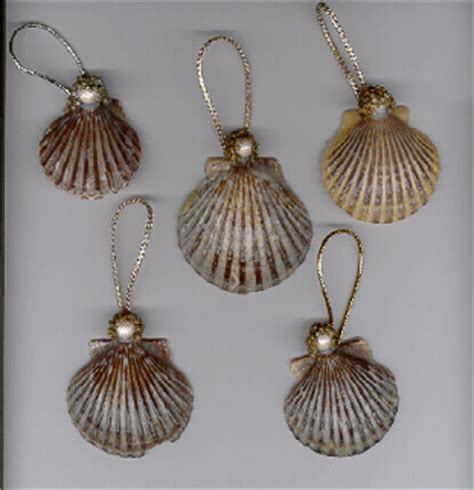 how to make seashell christmas ornaments christmas