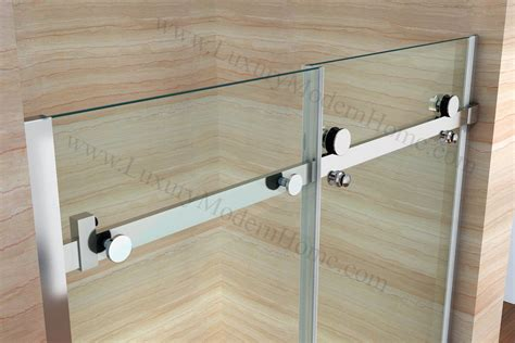 priscus frameless glass sliding door bathtub
