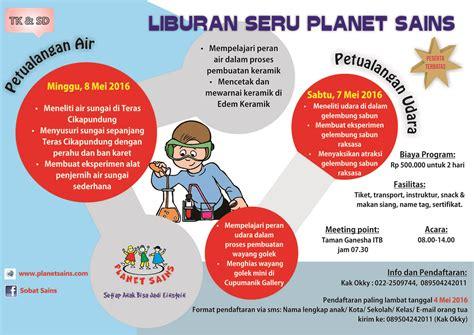 Seri Kreatif Mewarnai Diri Sendiri e poster liburan seru untuk anak tk dan sd bersama planet