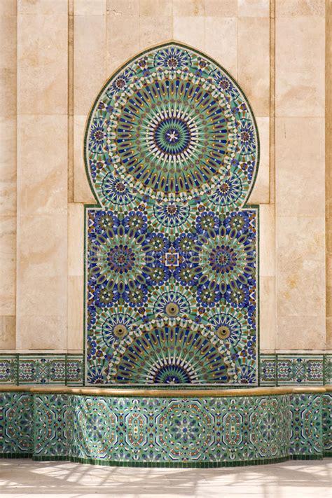 piastrelle tunisine fontaine marocaine image stock image du fontaine arabe