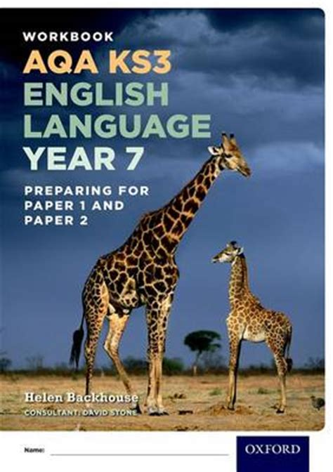 aqa ks3 english language 0198368836 aqa ks3 english language year 7 test workbook pack of 15 by helen backhouse david stone