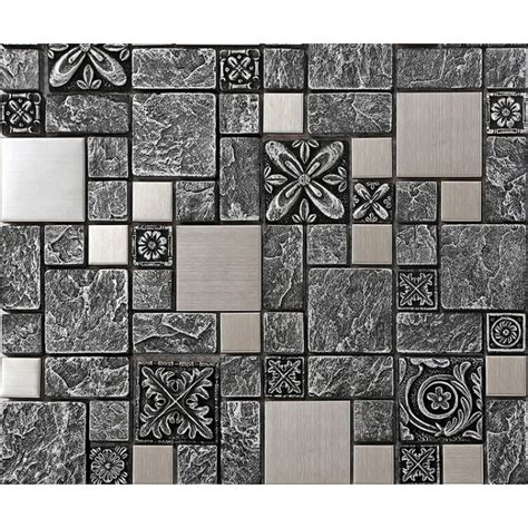 kitchen backsplash mosaic tile designs brushed stainless steel backsplash mosaic tile designs