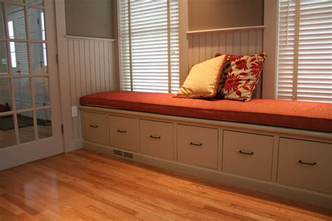 file cabinet bench Kitchen Traditional with box window