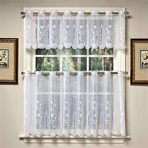 curtains for 36 inch window buy samantha 36 inch sheer window curtain tier pairs in