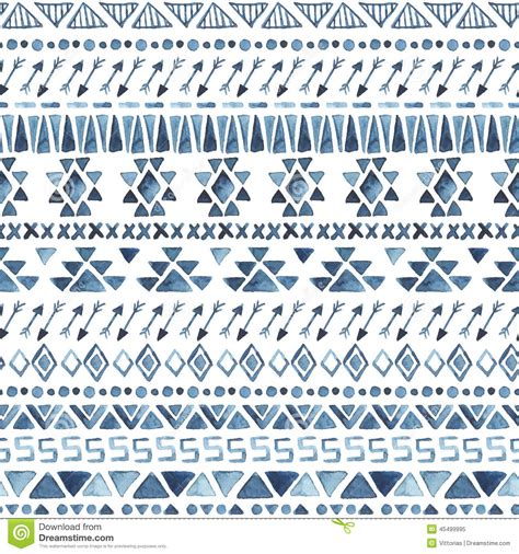 aztec pattern drawing seamless aztec pattern stock illustration image 45499995