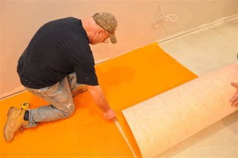 How To Lay Ditra Matting by How To Install Schluter Ditra Tile Underlayment One