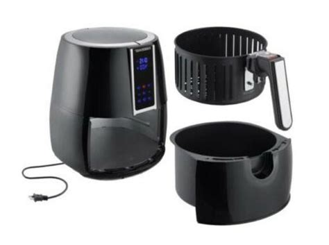 farberware  quart digital air fryer oil  black