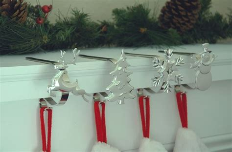 stocking hangers mantle hooks christmas stocking holders