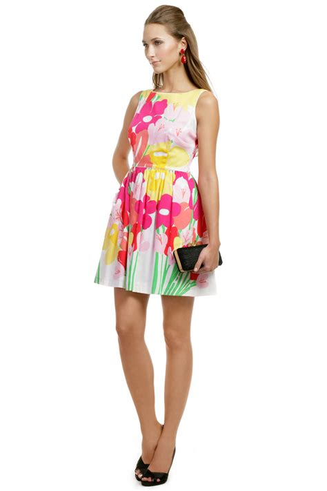 Dress Biru Flower Floral may flowers dress by lilly pulitzer for 57 rent the runway