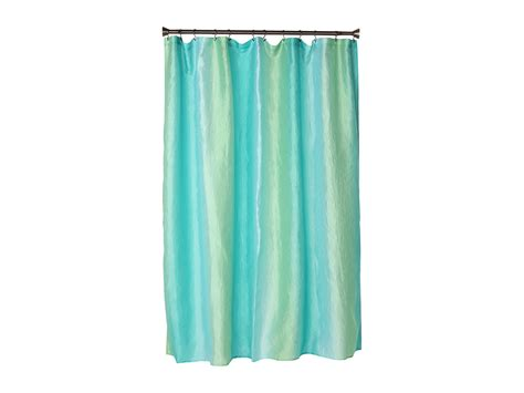 blue ombre curtains interdesign ombre print shower curtain blue green