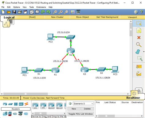 cisco packet tracer tutorial basic router configuration pdf 2 2 2 4 packet tracer configuring ipv4 static and