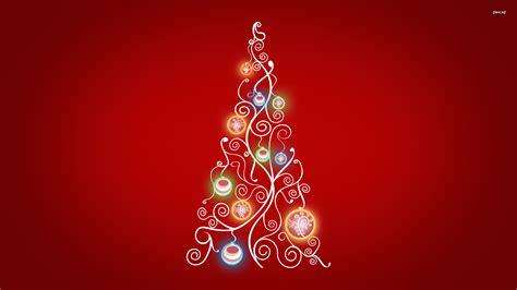 stylized christmas tree wallpaper 713351