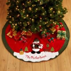 personalized snow cap christmas tree skirt walmart com
