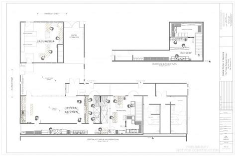 kosher kitchen floor plan feast your eyes blog occasional news about our new digs how to the floorplans for central kitchen and salumeria the new