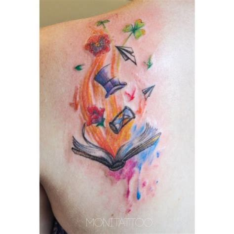 watercolor tattoos dublin a unique watercolor bookish literarytattoos http