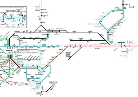 edinburgh rail map stasiun kereta edinburgh skotlandia