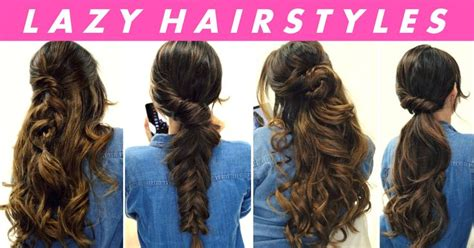easy lazy hairstyles for school best 25 easy lazy hairstyles ideas on hair fashion easy hairstyle and school hair