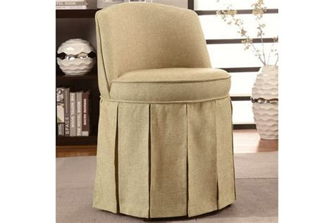 skirted vanity chair simple minimalist vanity chair with skirt
