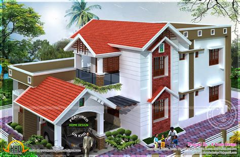 nice home plans 2401 square feet nice house renderings kerala home