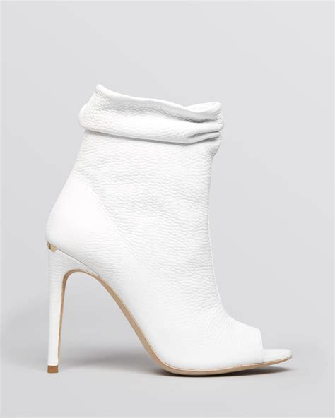 high heel peep toe booties burberry peep toe booties burlison high heel in white