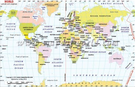 World Map With Longitude And Latitude by World Map With Latitude And Longitude Dydara S Blog