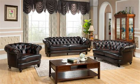 Console Loveseat 3 Piece Mario Full Leather Sofa Set