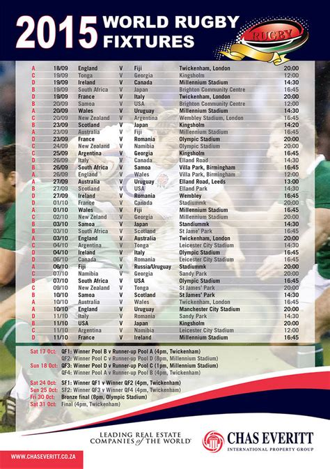 printable schedule rugby world cup 2015 2015 rugby world cup schedule new calendar template site