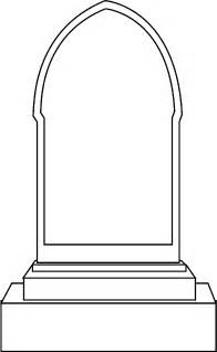 Parallelgraphics Outline 3d by Tombstone Template Printable Cliparts Co