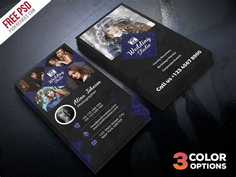Photography Business Card Templates Psd Free by Photographer Business Card Template Psd