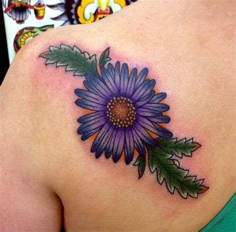 september flower tattoo best 25 aster ideas on