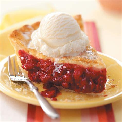 raspberry recipes favorite fresh raspberry pie recipe taste of home