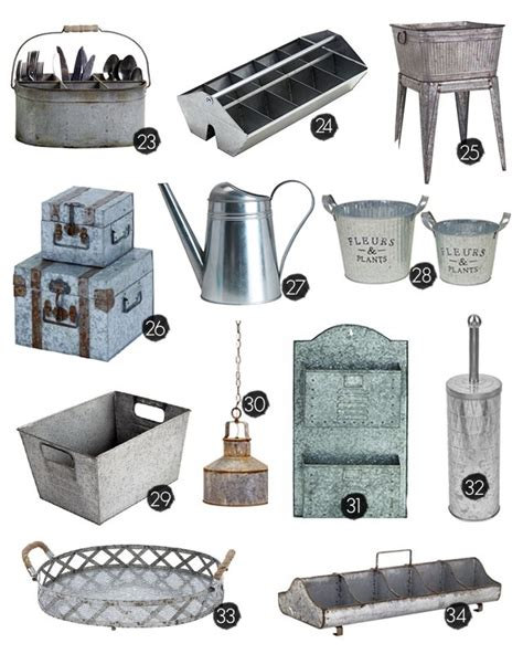 galvanized home decor 25 galvanized home decor ideas to inspire