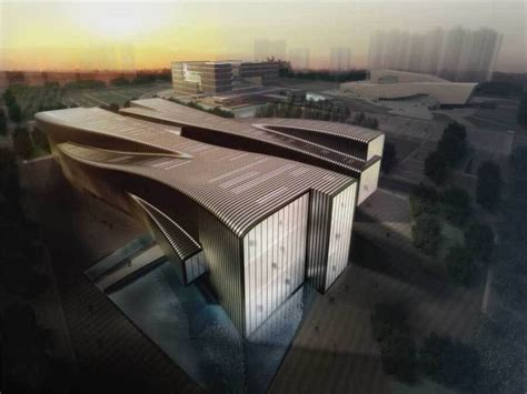 design concept modern architecture anhui provincial art museum with modern architectural
